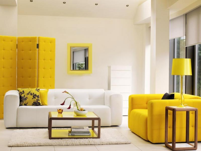 Mobilyalarda sarı renklerle yapılacak estetik detaylar