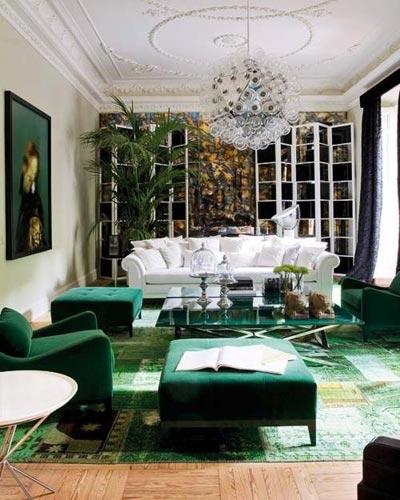 Dekorasyonda Zümrüt Yeşili Modası