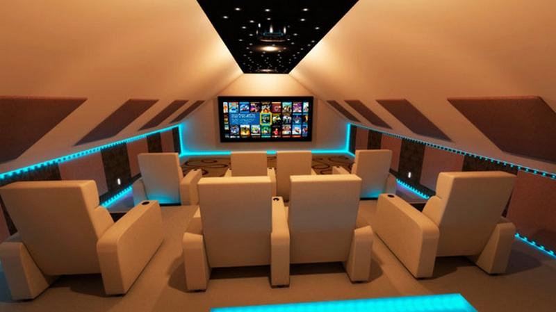Dekoratif Ev Sinema Alanları
