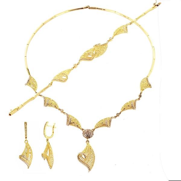 altın kolye takı seti