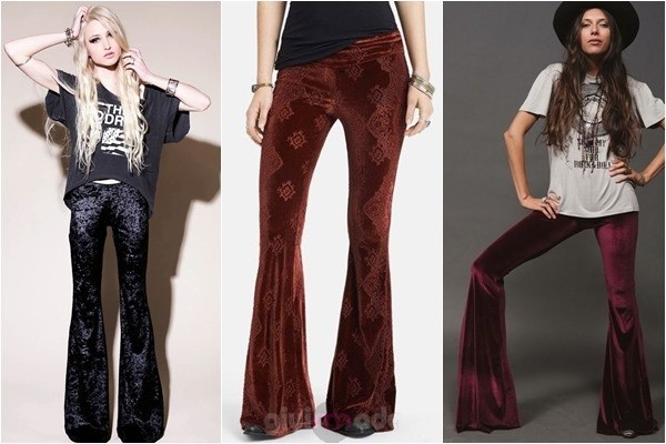 kadife ispanyol pantolon