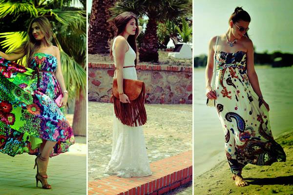 yazlık elbise modeli